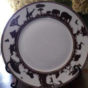 """Z Gallerie Safari 11"""", Set of 2,  Dinner Plates"""